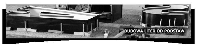 Budowa liter z taśmy aluminiowej